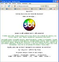 Hacker invadiu  o site do SBT e postou um libelo contra a corrupção