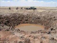200 habitantes de aldeia se dirigiram aos médicos após a queda de meteorito