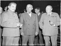 Truman, Stalin e Churchill em Potsdam