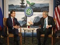 Presidente Dmitry Medvedev encontrou-se com Presidente George Bush