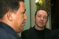 Chávez recebeu ator americano Kevin Spacey (foto)