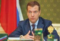 Presidente Medvedev lança lei para estabilização do mercado