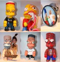 Bart Simpson pelos olhos de 100 artistas