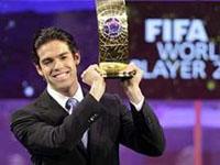 Kaká com grande vantagem venceu Messi e Cristiano Ronaldo