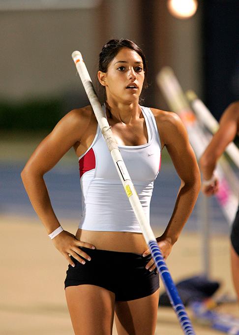 As atletas mais sexy do mundo Em quarto temos Allison Stokke, atleta do salto com vara. Foto Splash/All Over