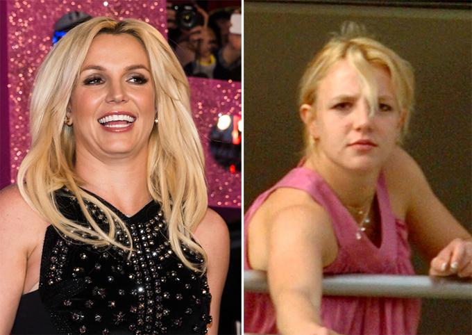 Estrelas sem maquiagem continam lindas Britney Spears, de 33 anos, fotoFotodom.ru/Rex Features