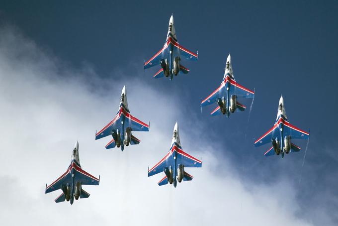 MAKS 2015 -salão de aviaçáo na Rússia