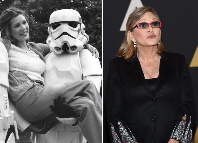 Estrelas de Star Wars há 38 anos O primeiro episódio de Star Wars foi lançado em 25 de maio de 1977.  Vejam   como atores se mudaram passados 38 anos. Fotos: ©Fotodom.ru/Rex Features