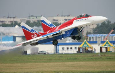 MiG-29: Desenhado para superioridade Mikoyan MiG-29, caça, desenvolvidonos anos 70 pelo Mikoyan. Entrou em serviço em 1983.Fotos: Vadim Savitsky, Pravda.ru