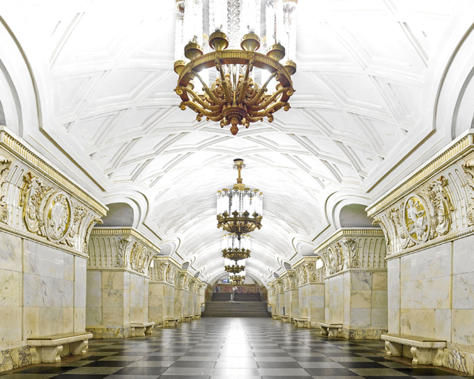 Beleza do metrô moscovita