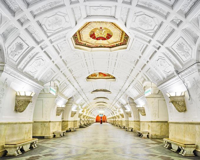 Beleza do metrô moscovita Estação  Belorusskaya . ©Fotodom.ru/Rex Feature