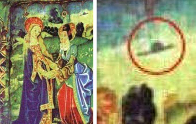 UFOs registrados até pintores da Idade Média