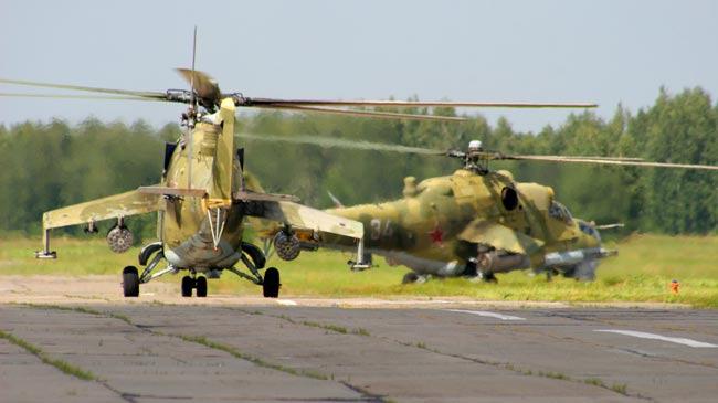 Helicóptero Mi-24 Mil Mi-24 (NATO: Hind) é um helicópteataque e transportador de tropas, produzido pela fábrica Mil. Opera desde 1972