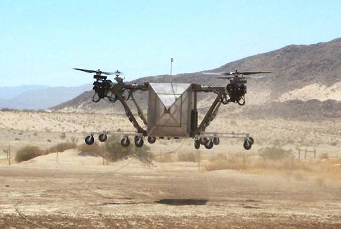 Caminhão-helicóptero  realiza primeiros voos