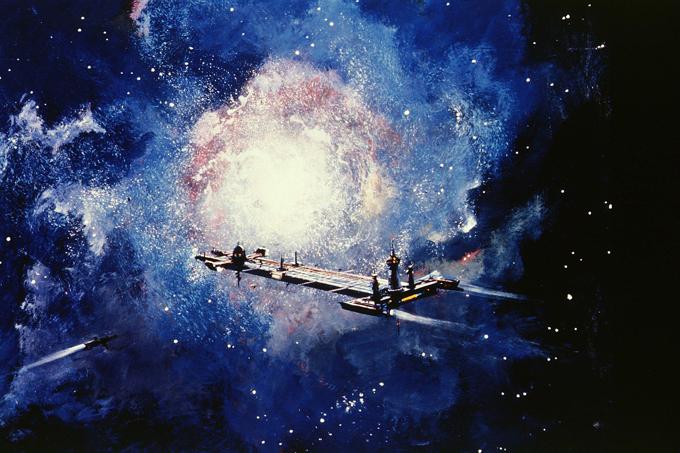 Os buracos negros  engolem  estrelas Um buraco negro é uma região do espaço da qual nada, nem mesmo partículas que se movem à velocidade da luz, conseguem escapar.Segundo a Agência Espacial Norte-Americana (Nasa), quando os buracos negros  engolem  estrelas, costumam liberar um jato de energia, que, na verdade, é uma labareda contendo radiação de altíssima intensidade, incluindo luz ultravioleta e raios-x.Se a massa de uma estrela moribunda for equivalente a 20-25 Sois, a força da onda de choque não será suficiente para impedir a diminuição do volume da estrela, a estrela se transforma em um buraco negro e praticamente desaparece do céu.   Fotos ©Fotodom.ru/Rex Features