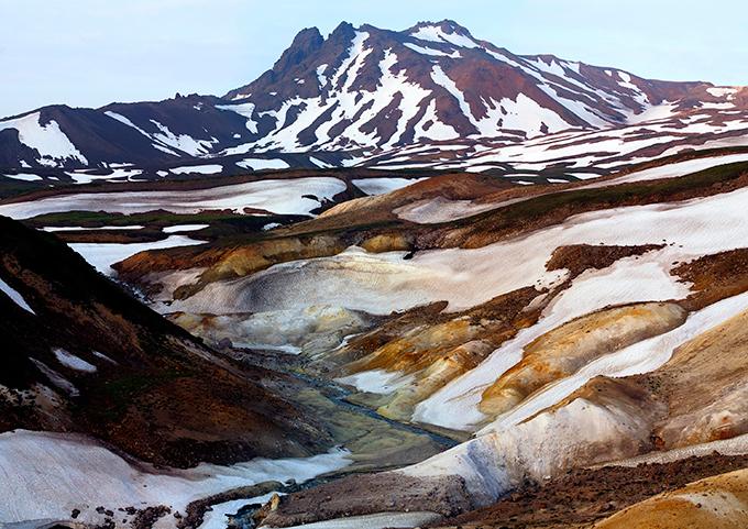 Vale dos Gêiseres na península de Kamchatka