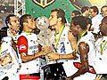 Flamengo comemora sua vitória num restaurante italiano