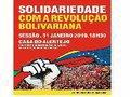 Solidariedade com a Revolução Bolivariano em Lisboa e Porto