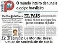 Manchetando o golpe de Estado no Brasil