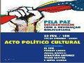 Pela paz: Solidariedade com a revolução bolivariana