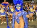Bicampeã do Carnaval de SP, Rainha de Bateria Andréa Capitulino posa de Índia Guerreira