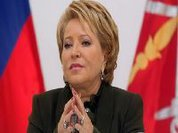 Receberão em Parlamento de Cuba a presidenta do Senado de Rússia