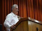 Só os povos podem mudar a História , afirma Miguel Díaz-Canel, presidente de Cuba