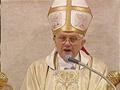 Bento XVI na sua homilia pediu a unidade de todos os cristãos