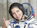 Que faz a primeira turista espacial na órbita