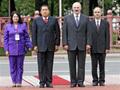 Lukashenko, Kirchner e Chávez