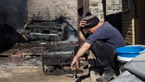 A equipe da OSCE em seu relatório diz que desde março de 2014, em região de Donetsk, foram mortos em resultado da guerra cerca de 1.500 pessoas. Fotos AP.