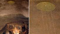 Os objetos celestes misteriosas eram retratados até mesmo por pintores europeus nos séculos XIII-XVII em pinturas com temas religiosos.